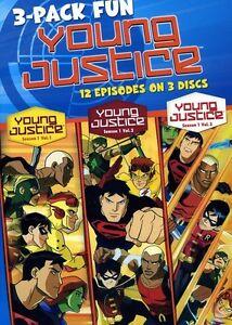 Young Justice: Season 1, Vols. 1-3 [3 Discs] (2012, REGION 1 DVD New)