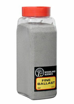 Woodland Scenics Ballast * 1375 GRAY FINE * 32 oz - NIB
