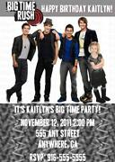 Big Time Rush Invitations