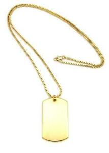 Gold dog tags jewelry watches ebay gold dog tag pendant aloadofball Choice Image