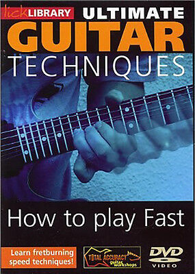 Ultimate Guitar Learn To Play Fast Fret Burning Speed Techniques Video Dvd