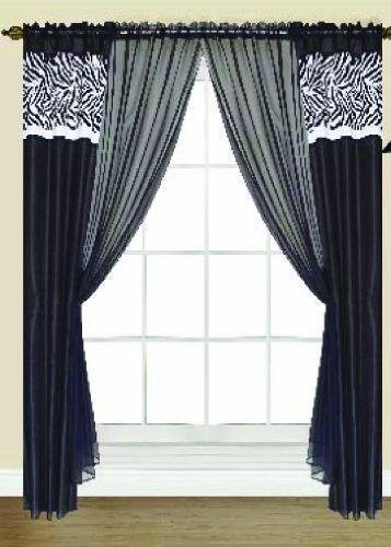 Black And White Curtain Panels Ebay