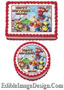 Super Hero Squad Edible Cake Images