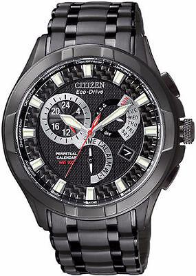 Citizen Eco-Drive Men's BL8097-52E Calibre 8700 Perpetual Black Ion Watch New