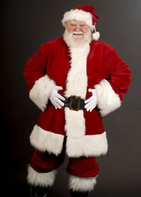 Mens Santa Outfit (Mens Professional Quality Santa Claus Father Christmas Suit Costume Xmas Outfit)