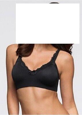 T-Shirt BH schwarz 95 E ohne Bügel mit Spitze blickdicht nahtlos