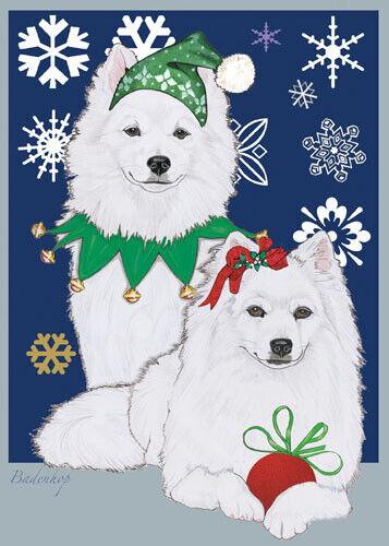 American Eskimo Christmas Cards Set of 10 cards & 10 envelopes