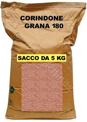 CORINDONE 180 PER SABBIATRICE GRANIGLIA GRANA SABBIATURA - SACCO PROVA DA 5 KG