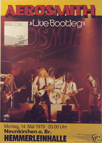 AEROSMITH CONCERT TOUR POSTER 1979 LIVE BOOTLEG STEVEN TYLER JOE PERRY