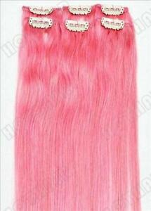 Pink hair extensions ebay hot pink hair extensions pmusecretfo Images