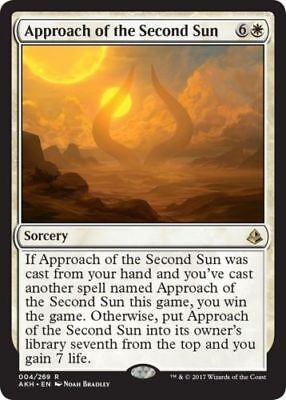 1x APPROACH OF THE SECOND SUN - Rare - Amonkhet - MTG  - Magic the Gathering