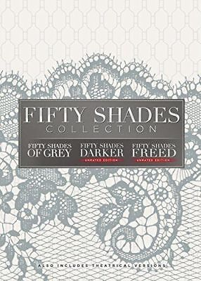 Fifty Shades 3-Movie Collection (DVD, 2018, 3-Disc Set)  First Class Shipping.