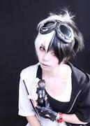 Black and White Cosplay Wig