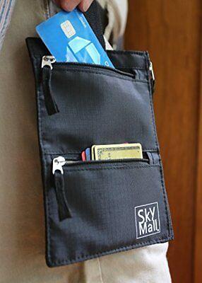 Passport Holder Travel Belt Wallet RFID Blocking Hidden Cover Belt Stash For Men