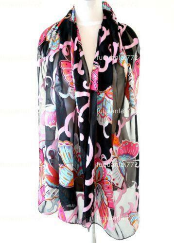 floral silk scarf scarves wraps ebay