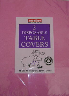 PACK OF 2 HOT PINK  PAPER TABLE CLOTHS PARTY HEN STAG BIRTHDAY CHRISTENING (Pink Paper Tablecloths)