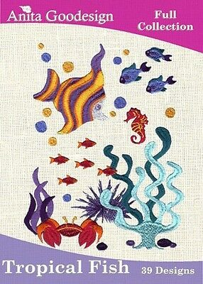 Anita Goodesign Tropical Fish Embroidery Machine Design CD NEW 22AGHD
