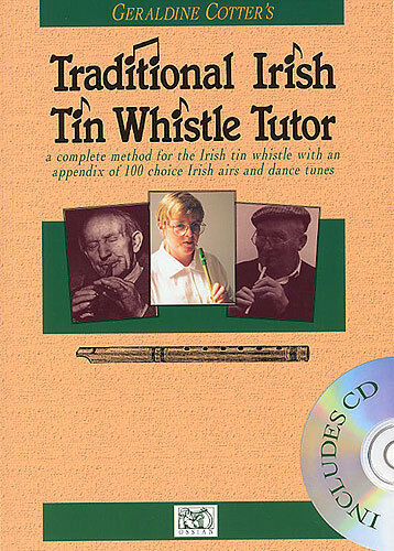 Geraldine Cotter's Traditional Irish Tin Whistle Tutor Play Music Book & CD