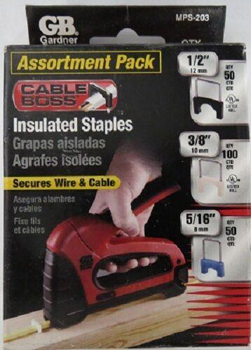 Gardner Bender MPS-203 Assortment Pack Insulated Staples 200Pk