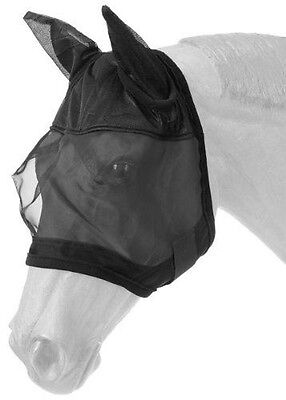 Tough 1 Fly Mask with Ears, Black, Horse Size