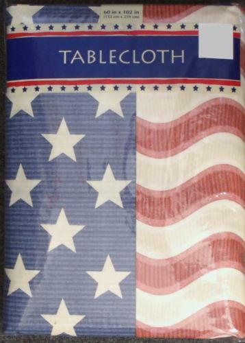 Red White Blue Tablecloth Ebay
