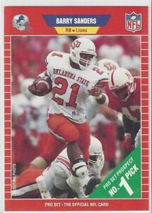 Barry Sanders Rookie Card for sale