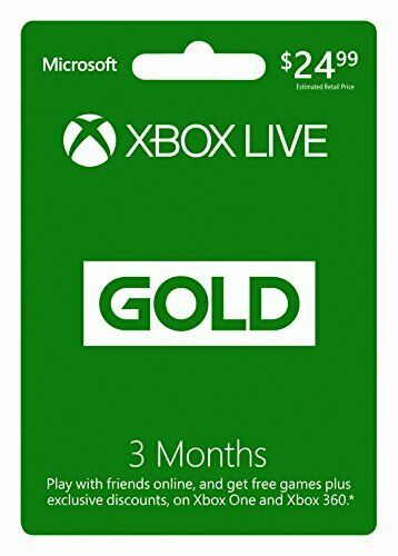 Microsoft Xbox Live 3 Month Gold Membership XBOX 3MO SUBSCRIPTION 2015 $24