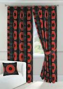 Red and Black Curtains