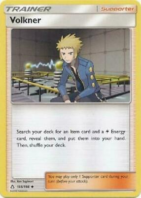 Uncommon Card (Pokemon TCG SM Ultra Prism 135/156 Volkner Uncommon Trainer Card )