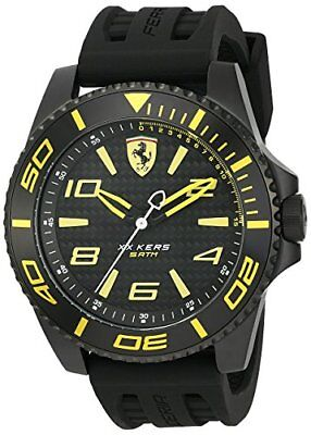 Scuderia Ferrari Mens Xx Kers Quartz Stainless Steel   Silicone Casual Watch