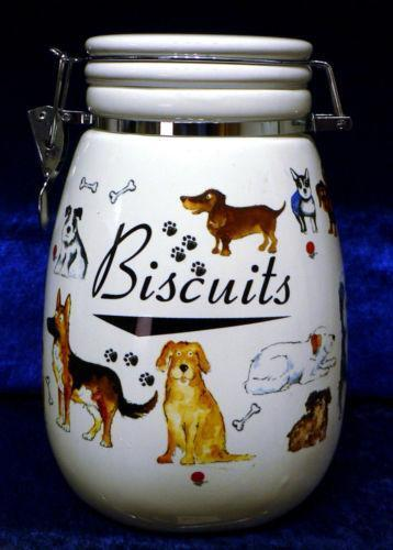 Dog Biscuit Jar Ebay