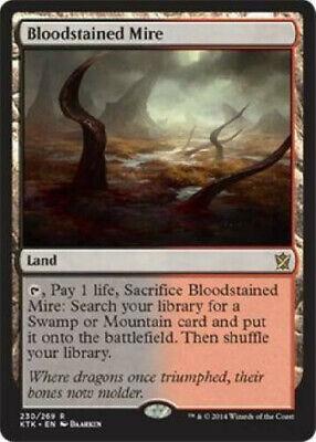 BLOODSTAINED MIRE -Fetch Land- Khans of Tarkir MTG LP-NM