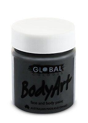 Global Body Art Face Paint - Liquid Black (45 ml/1.5 oz) (Black Body Paint)