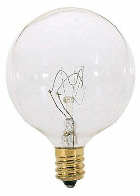 Satco S3771 2/Card 120V 60 Watt G16.5 Candelabra Base Light Bulb, Clear