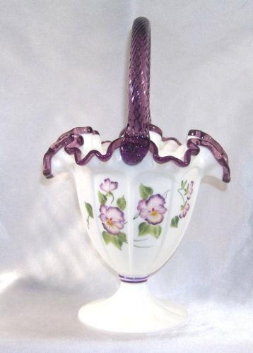 Fenton Purple Basket Ebay