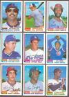 1982 Topps Traded Baseball Card Set