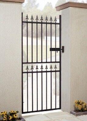 WROUGHT IRON METAL GARDEN GATE Castle Tall 2ft6