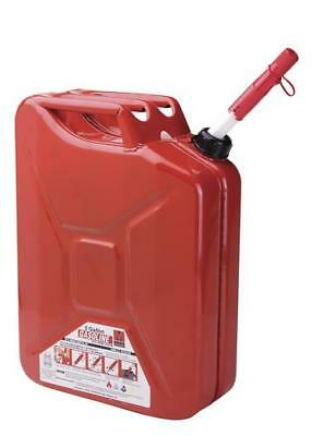 5 Gallon Metal Safety Storage Container Jerry Canister Gasoline Fuel Spill Proof