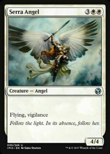 x4 Serra Angel MTG Magic 2014 U M//NM English