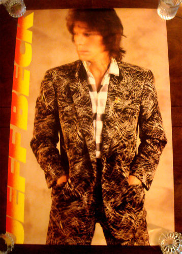 """Rare JEFF BECK """"Flash"""" 1985 EPIC RECORDS PROMO POSTER - NMINT UNUSED"""