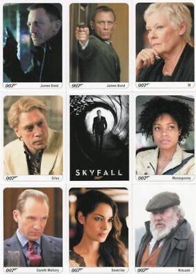 James Bond Archives 2014 Edition Skyfall Expansion Card Set 9 Cards
