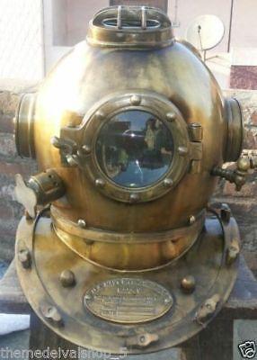 Antique Scuba SCA Divers Diving Helmet US Navy Mark V Deep Sea  Divers Marine