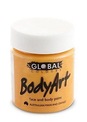 Global Body Art Face Paint - Liquid Orange 45mL (Orange Body Paint)