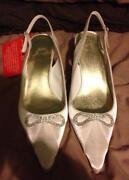 Cream Satin Shoes