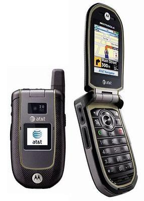 Motorola VA76R Tundra AT&T 3g GSM Rugged Durable Camera  GPS Flip Cell Phone New