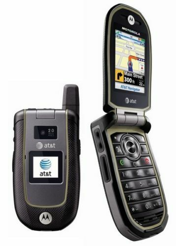 Motorola VA76R Tundra AT&T 3g GSM Rugged Durable Camera  GPS Flip Cell