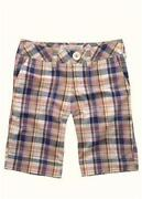Womens Plaid Bermuda Shorts