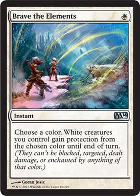 4x Brave the Elements NM-Mint, English Magic 2014 MTG Magic