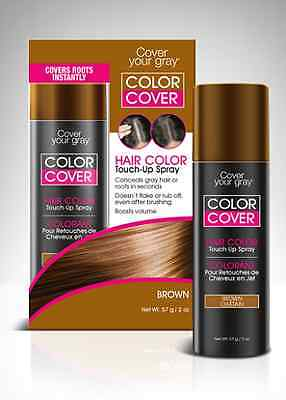 Hair Color Temporary Cover - Cover Your Gray Color Cover Hair Color Touch-Up Spray 2 oz Temporary/Wash-Out