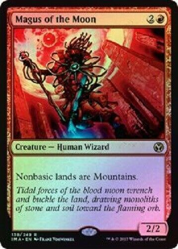 Mtg *magus Of The Moon Foil X1*(nm) Iconic Masters Magic The Gathering Free Ship
